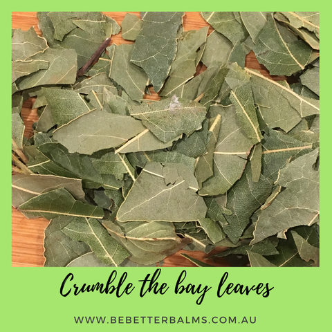 crumble the bay leaf