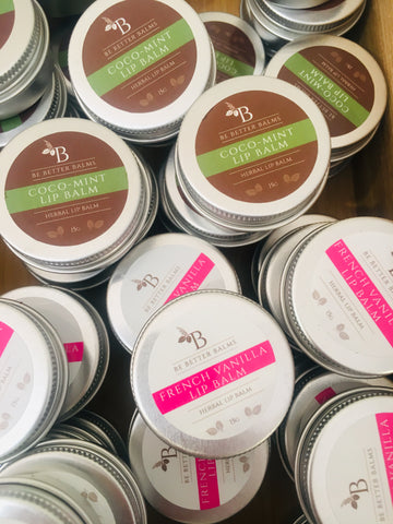 all natural vegan lip balms