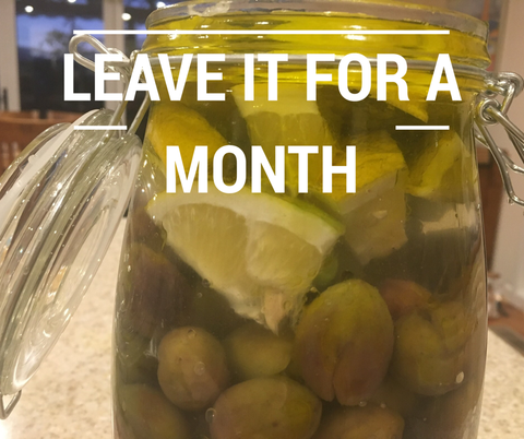 leave the olives for a month