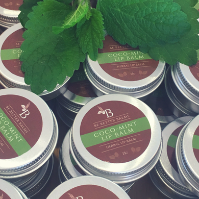 coco mint lip balm all natural lip balm