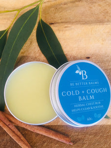 Cold + Cough Balm  herbal chest rub  - helps clear & soothe