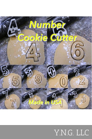 Numbers With Fancy Words 1 One Through Ten Set of 10 Cookie Cutters USA PR1157