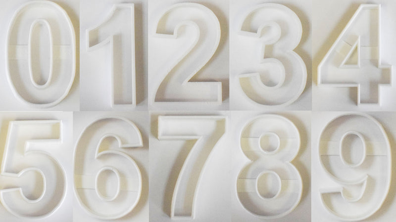 "Numbers Counting Birthday Anniversary Pre-K Set of 10 Special Occasion Fondant Stamp Cutter or Cupcake Topper Size 1.75"" Made in USA FD1013"