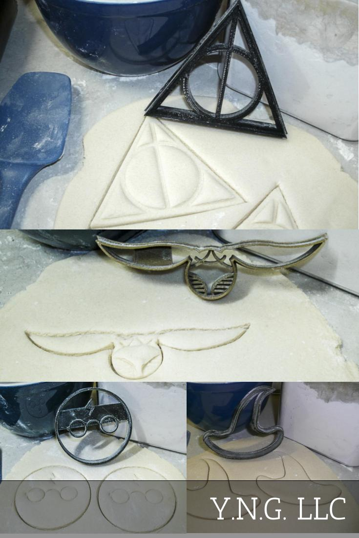 Harry Potter Wizard Deathly Hallows Snitch Set Of 4 Cookie Cutters USA PR1071