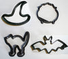 Witches Brew Cauldron Witch Hat Halloween Set Of 4 Cookie Cutters USA PR1094