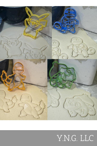 Christmas Tree Pickup Truck Ornaments Bulb Holiday Set Of 5 Special Occasion Cookie Cutters Baking Tool Made In USA PR1114