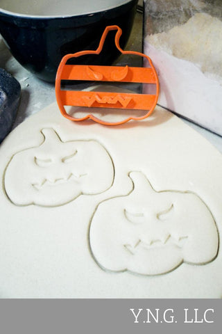 "Pumpkin Halloween Special Occasion Fondant Stamp Cutter or Cupcake Topper Size 1.75"" Made in USA FD111"