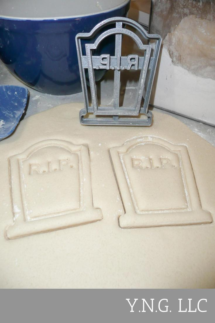 RIP Tomb Stone Headstone Grave Marker Halloween Cookie Cutter Special Occasion 3D Printed PR112