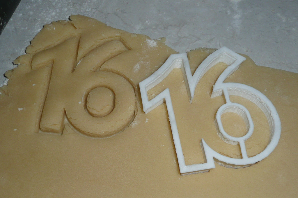 Sixteen Number 16 Sweet Birthday Anniversary Sports Cookie Cutter USA PR108-16