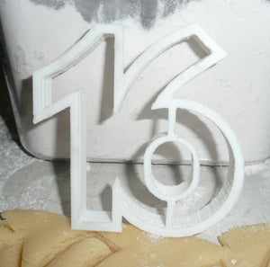 Sixteen Number 16 Cookie Cutter Baking Tool Special Occasion Made In USA PR108-16