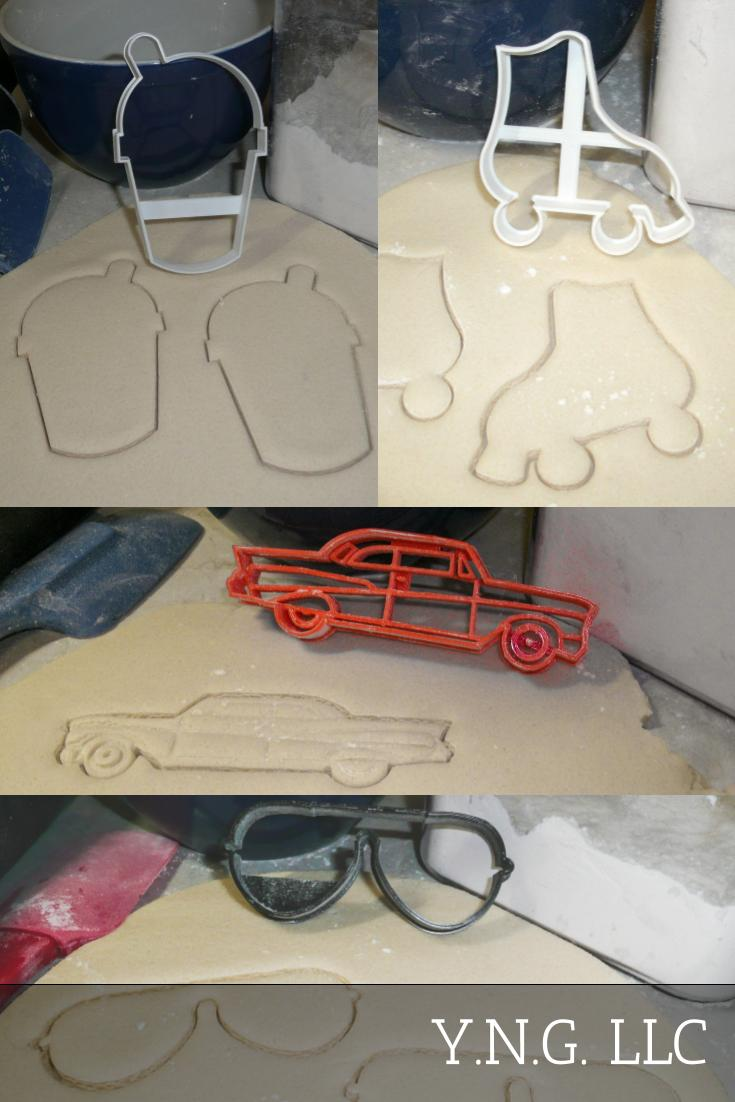1950s Fifties Roller Skate Carhop Drive In Set Of 4 Cookie Cutters USA PR1336