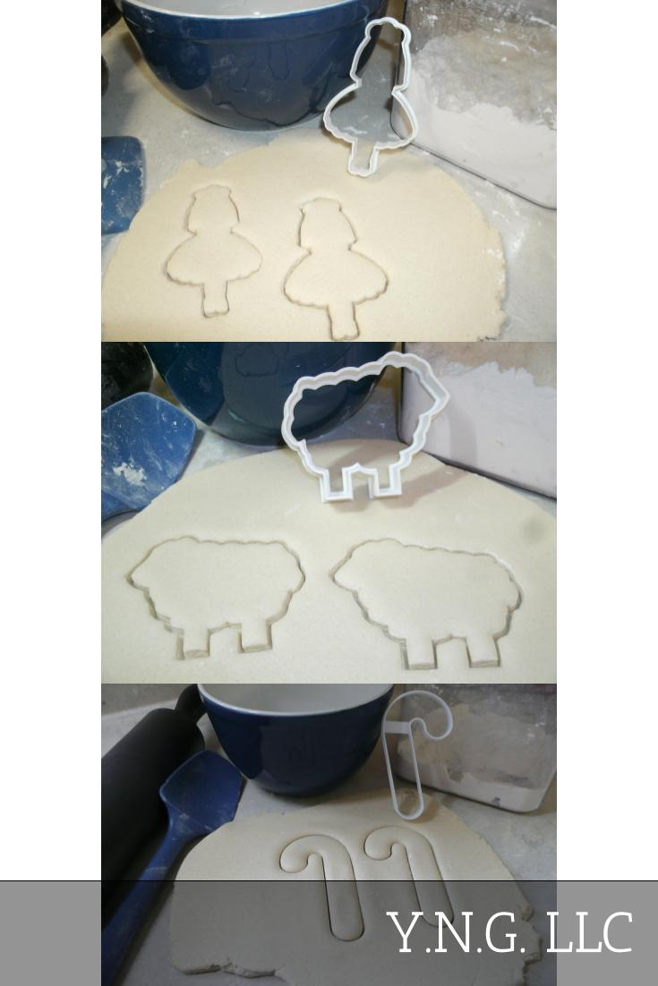Little Bo Peep Nursery Rhyme Sheep Set Of 3 Cookie Cutters USA PR1370