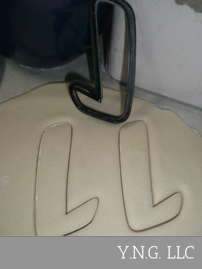 Letter L Uppercase Fancy Stylized Font Alphabet Cookie Cutter USA PR3339