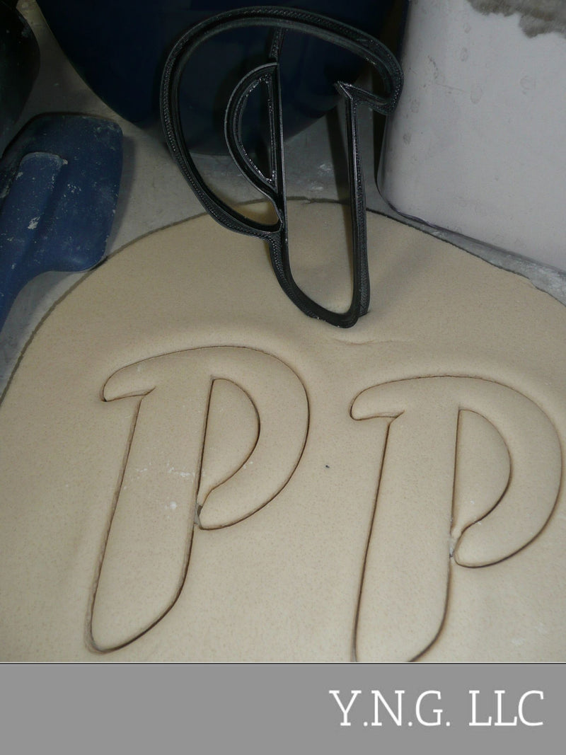 Letter P Uppercase Fancy Stylized Font Alphabet Cookie Cutter USA PR3343