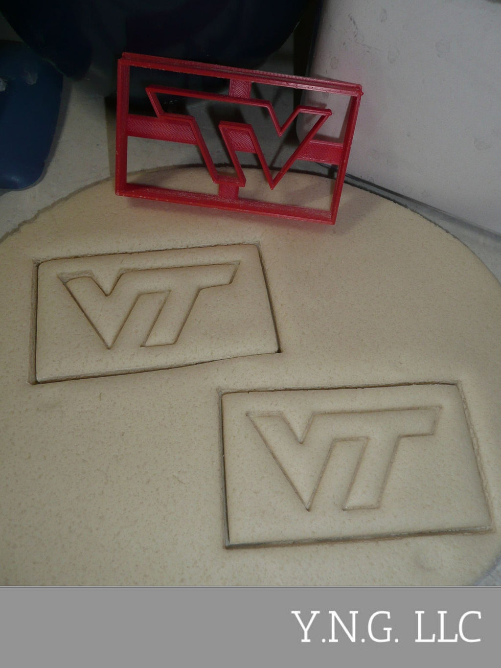 Virginia Tech University VT Letters Impression Sports Cookie Cutter USA PR3281