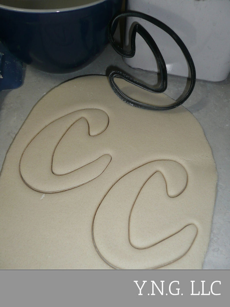 Letter C Uppercase Fancy Stylized Font Alphabet Cookie Cutter USA PR3330