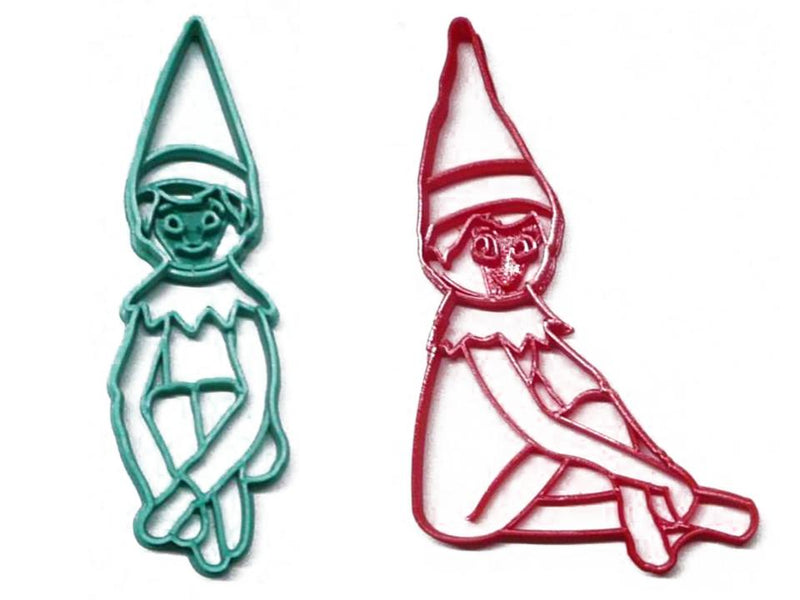 Elf On The Shelf Girl And Boy Christmas Set Of 2 Cookie Cutters USA PR1416