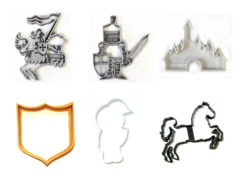 Knights Joust Medieval Tournament Set Of 6 Cookie Cutters USA PR1426