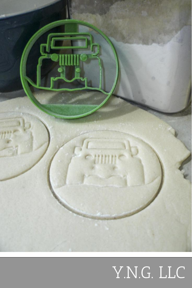 Jeep 4x4 Vehicle Suv Military Off Road Special Occasion Cookie Cutter Baking Tool 3D Printed Made In USA PR550
