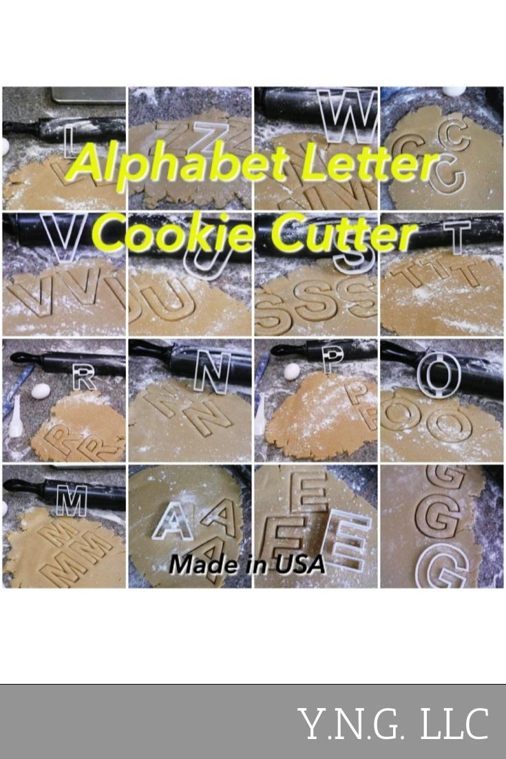 Letter Alphabet Cookie Cutter Letter Special Occasion 3D USA PR107