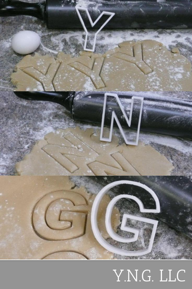 Alphabet Letters Complete Set of 26 Special Occasion Cookie Cutter Baking Tool 3D Printed - Made in USA PR1012