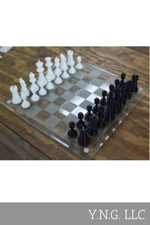 Chess Pieces Set of 16 Board Game Classic Figurines 3D Printed - Made In USA PR71
