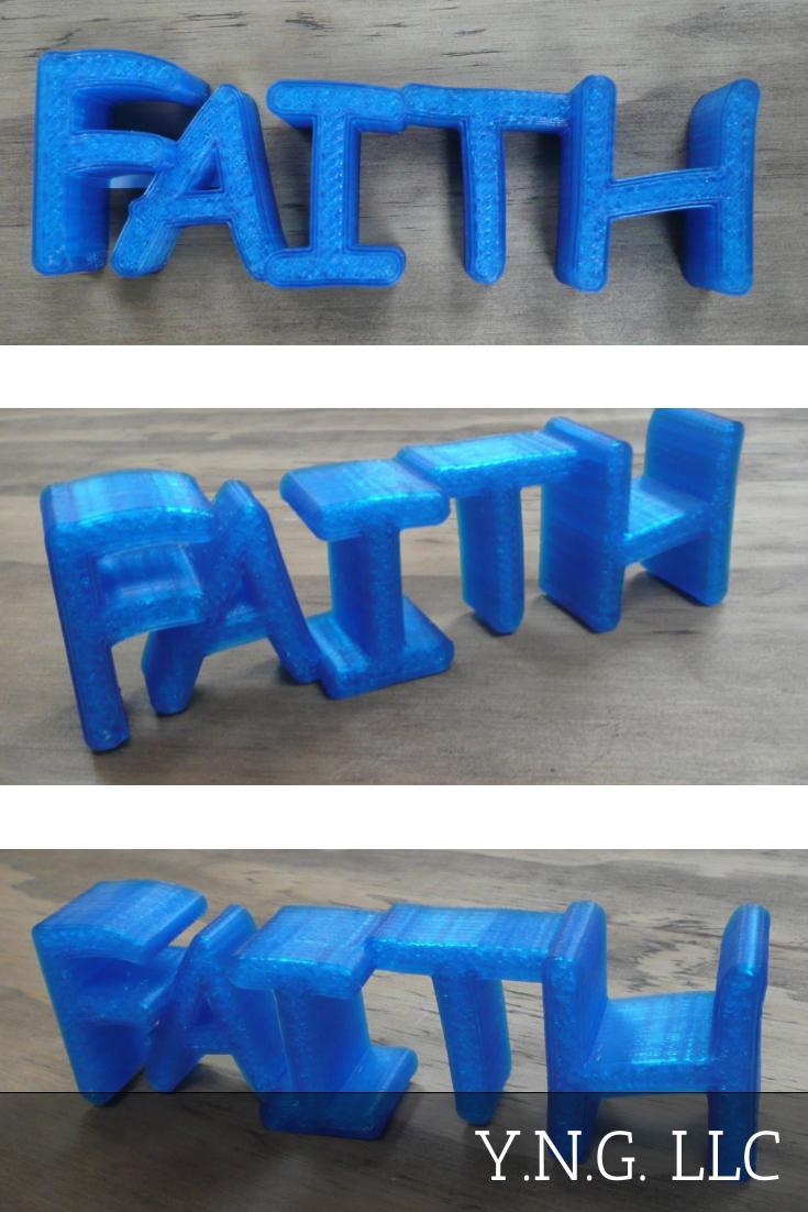 Faith Sign Inspirational Quote Saying Home Decor Decoration Display 3D Printed - Made In USA PR173
