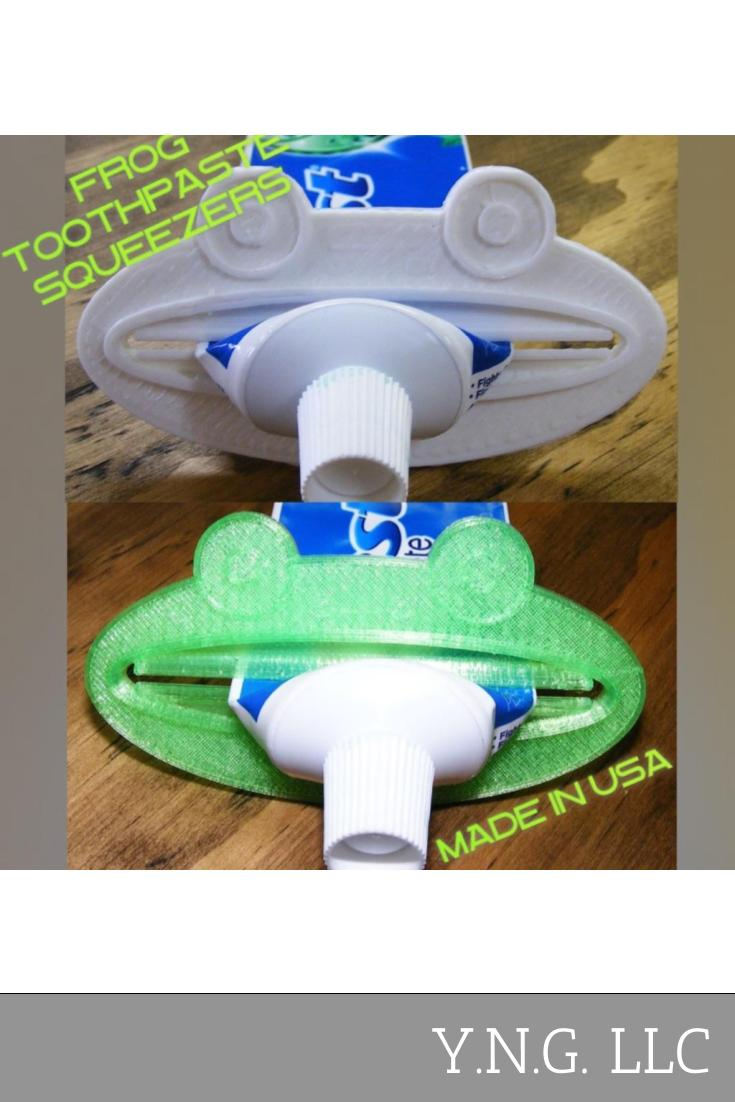 Frog Bathroom Toothpaste Extractor Squeezer Cosmetic Dispenser Home Goods USA PR109