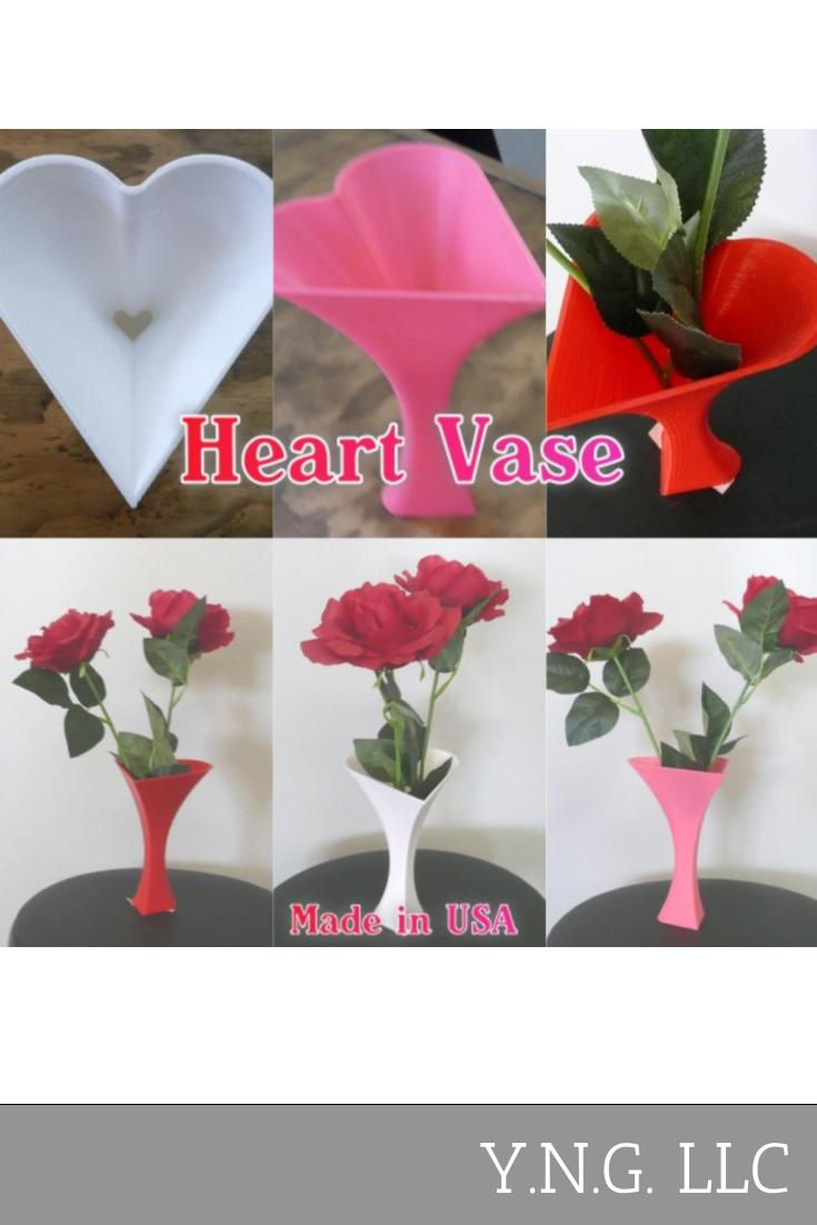 Heart Shaped Vase Home Decor Decorative Valentine's Day Gift 3D Print USA PR29