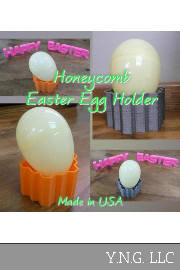 Honeycomb Happy Easter Egg Holder Holiday Home Decor 3D Printed Made in the USA PR207