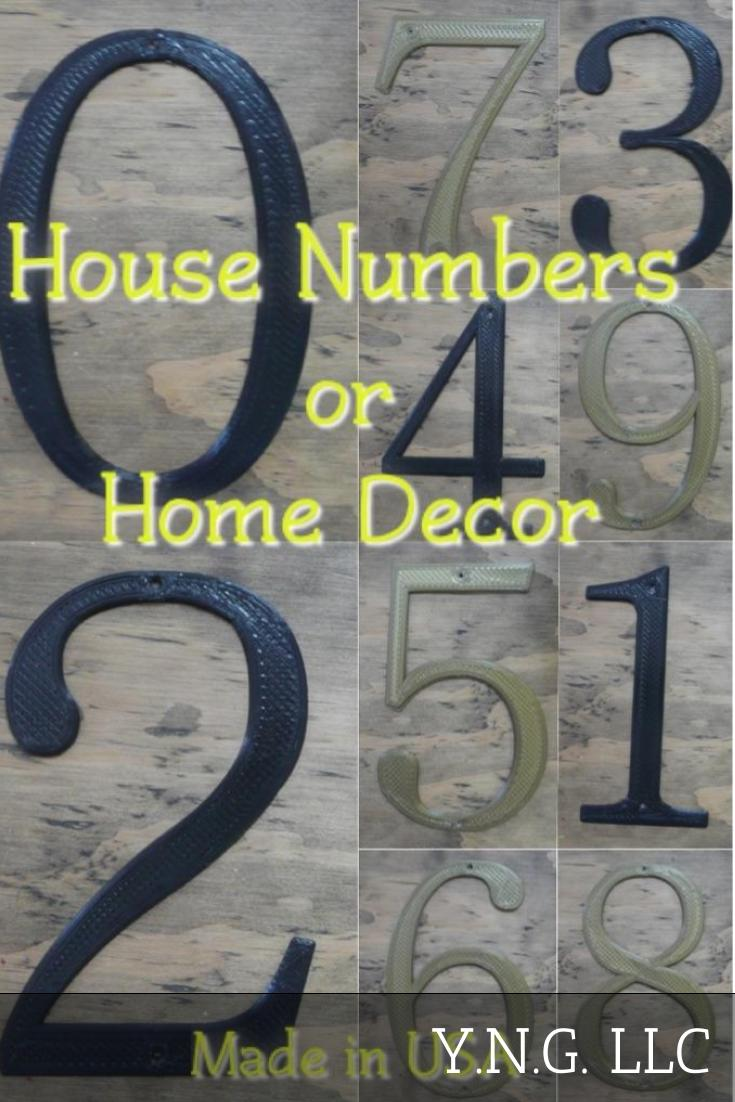 House Number Home Decor Address Numbers Decoration 3D Printed Made In The USA PR232