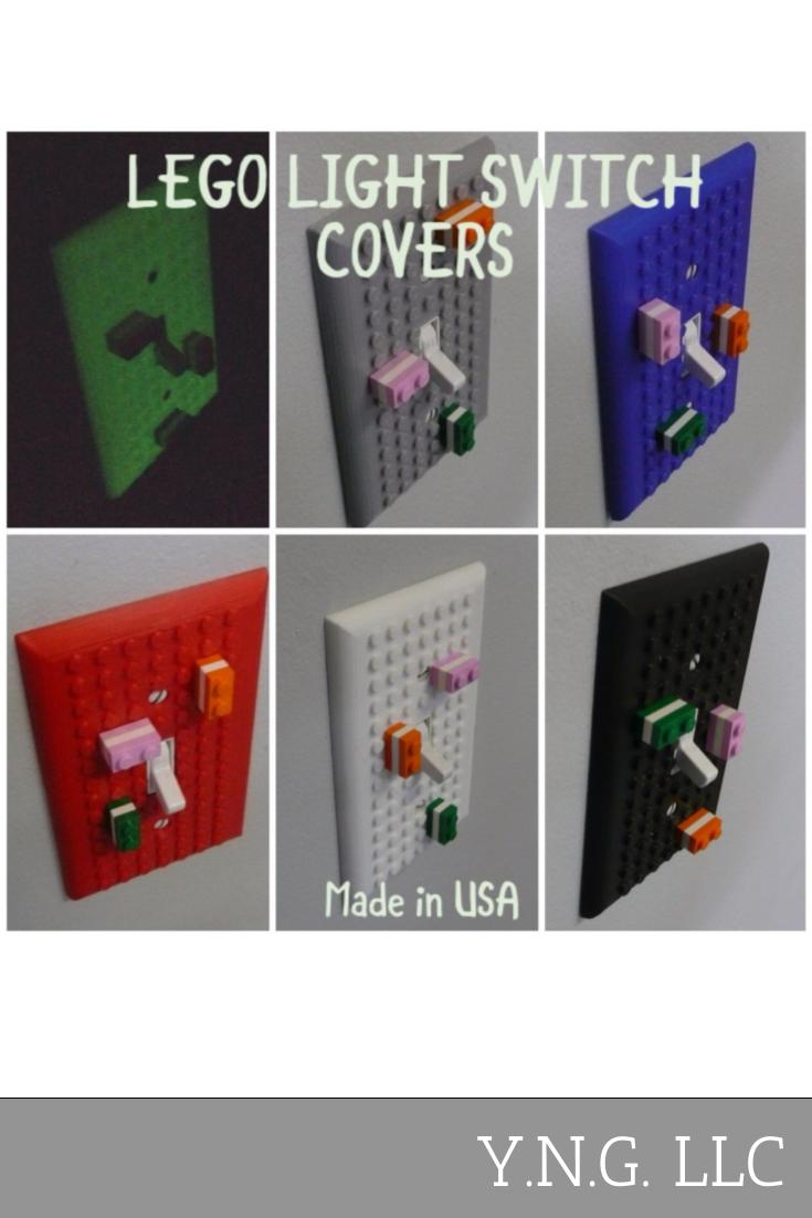 Lego Light Switch Cover Wall Plate Choose A Color 3D Printed - Made In USA PR400
