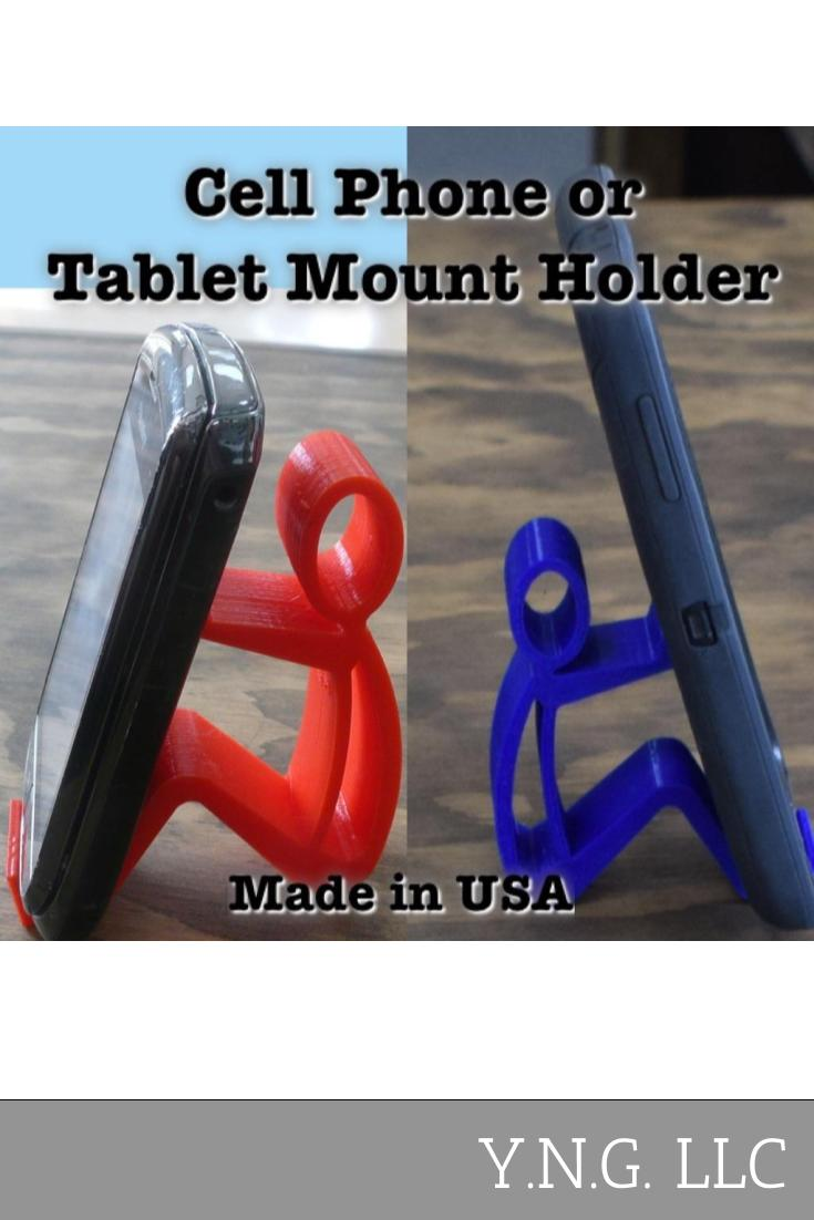 Person Holding Multi Purpose Tablet Cell Phone Mount Holder Universal 3D PR104