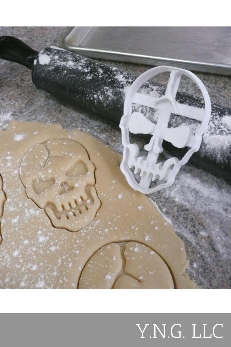 Cracked Skull Halloween Cookie Cutter Special Occasion 3D Print PR114