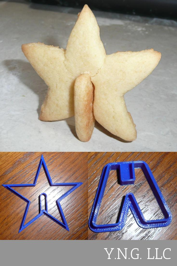 3D Star Christmas Cookie Cutter Baking Tool Holiday Special Occasion Made In USA PR293