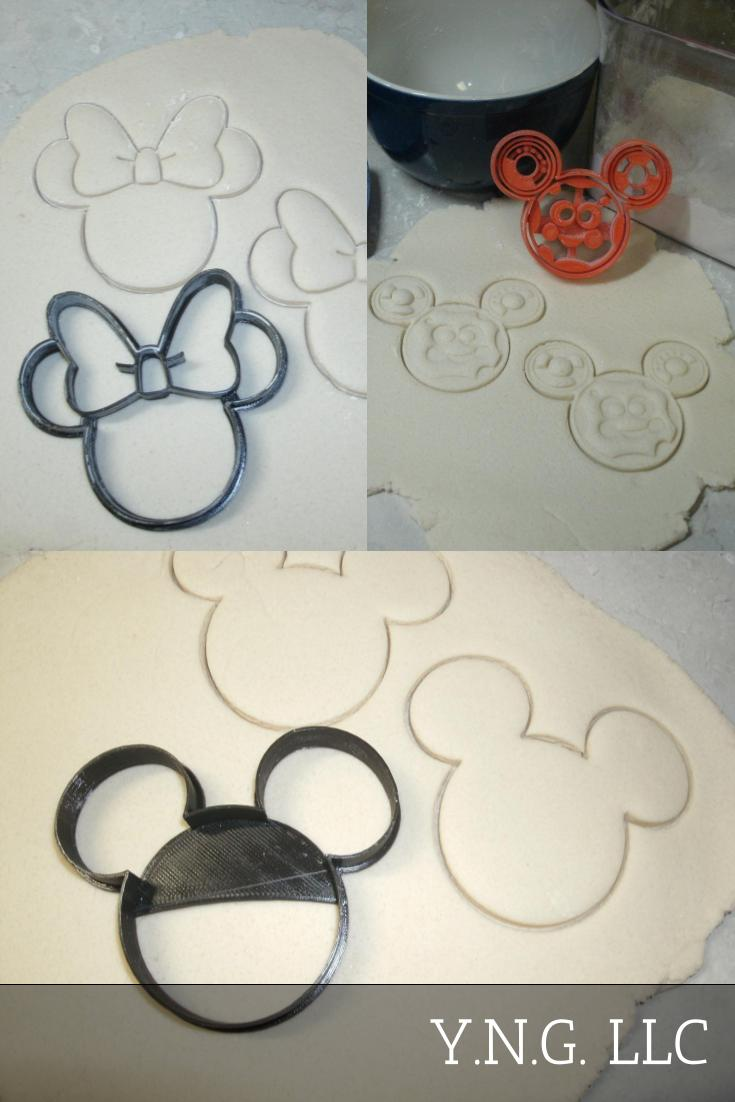 Oh Toodles Minnie Mickey Mouse Clubhouse Set Of 3 Special Occasion Cookie Cutters Baking Tool 3d Printed USA PR1038