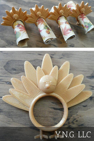 Thanksgiving Holiday Turkey Napkin Ring Holder Rings 3D Printed Made USA PR128