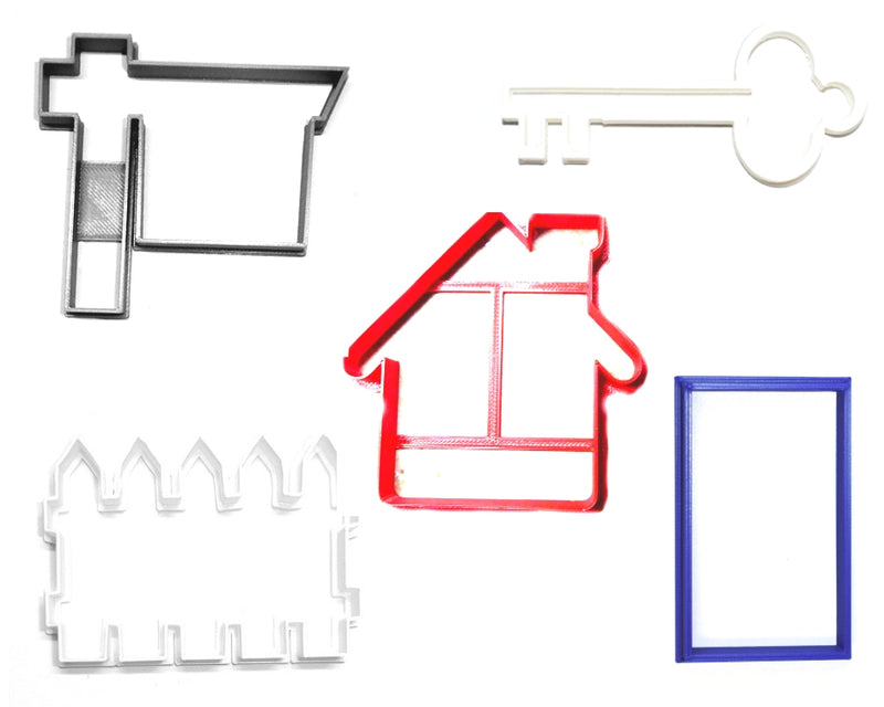 Housewarming New Home Real Estate Realtor Set Of 5 Cookie Cutters USA PR1360