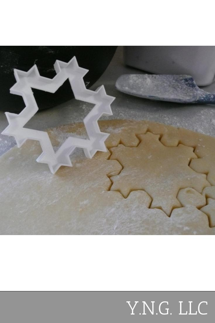 Fractal Star Baking Cookie Cutter Made In USA PR422