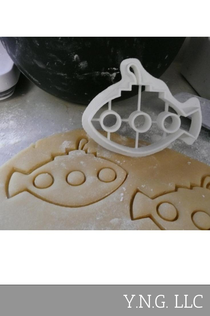 Submarine Under Water Ocean Vessel Boat Special Occasion Cookie Cutter Baking Tool Made in USA PR474