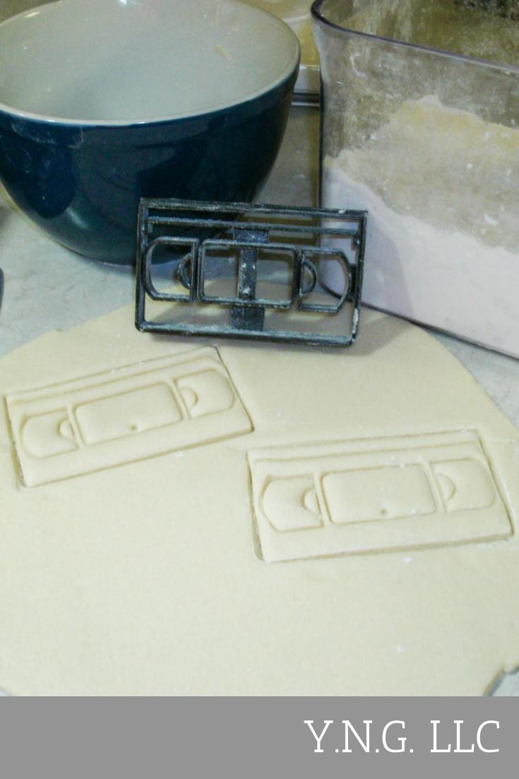 VHS Video Tape Cassette VCR Special Occasion Cookie Cutter Baking Tool Made In USA PR2012