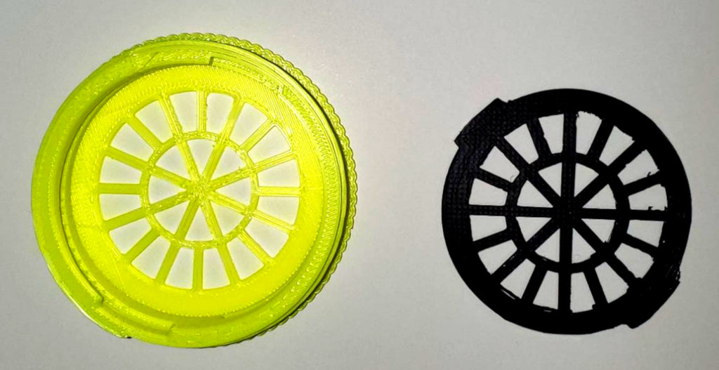 Filter Insert and Housing Cover for Face Mask ( YELLOW ) USA PR3535