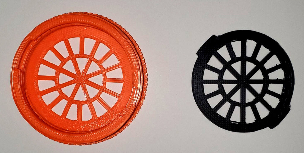 Filter Insert and Housing Cover for Face Mask ( ORANGE ) USA PR3536