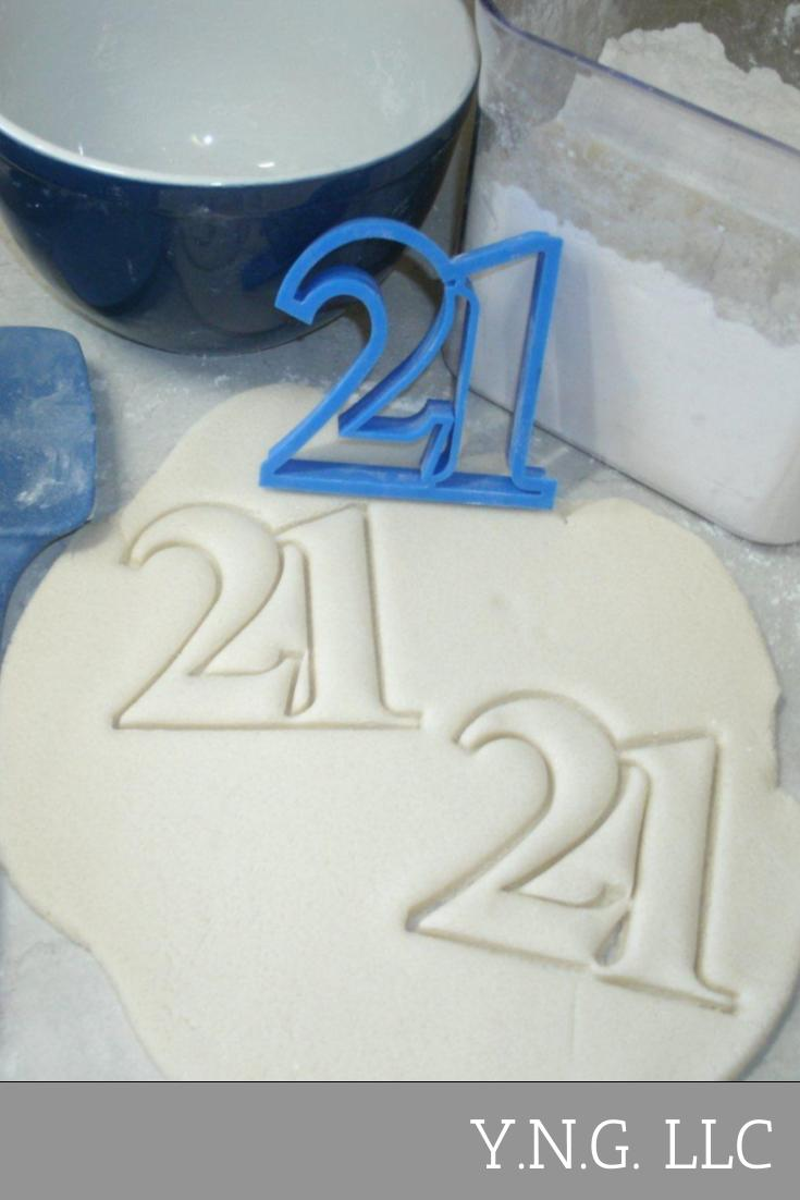 Number 21 Twenty-one 21st Birthday Anniversary Sports Cookie Cutter USA PR108-21