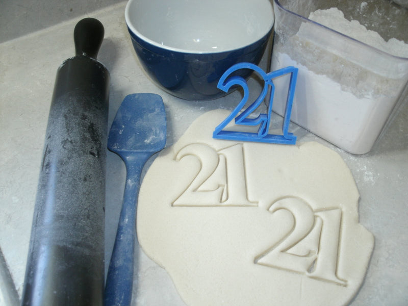 21st Birthday Party Celebration Set Of 4 Number 21 Twenty-One Wine Glass Bottle Cap Special Occasion Cookie Cutter Baking Tool USA PR1037