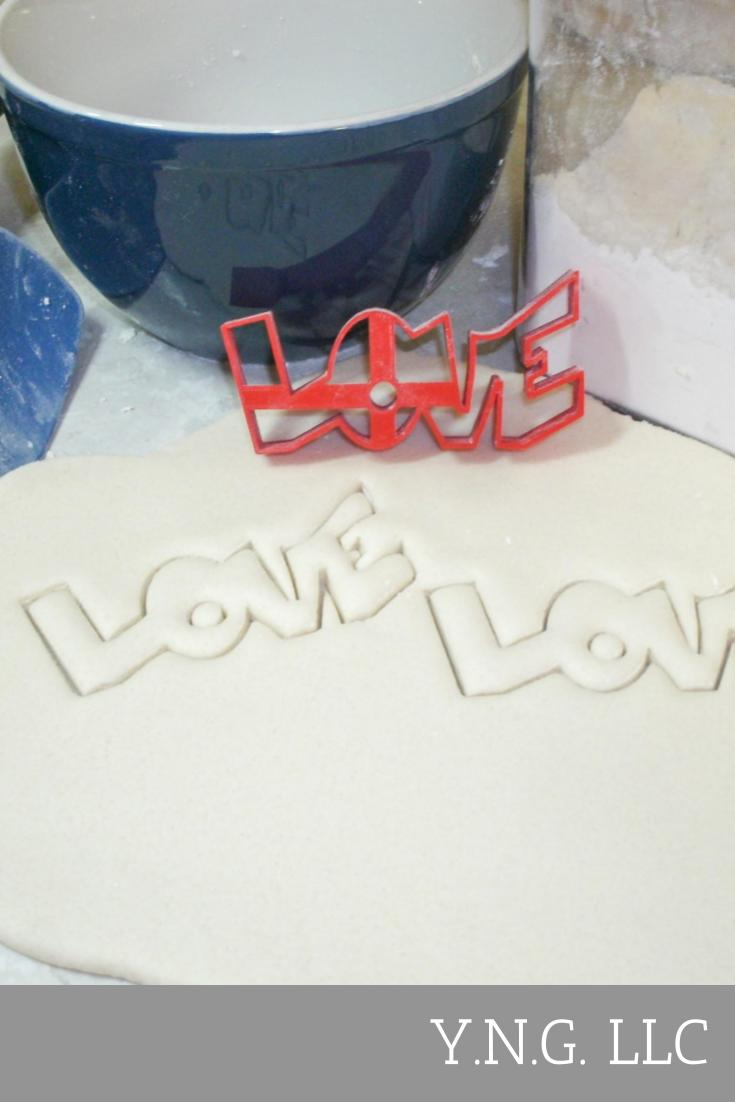 Love Word Valentine's Day Special Occasion Cookie Cutter Baking Tool Made in USA PR210