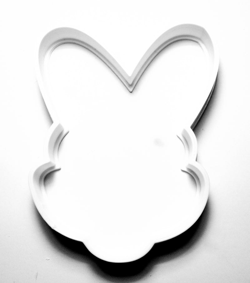 "Easter Bunny Ears Special Occasion Fondant Stamp Cutter or Cupcake Topper Size 1.75"" Made in USA FD215"