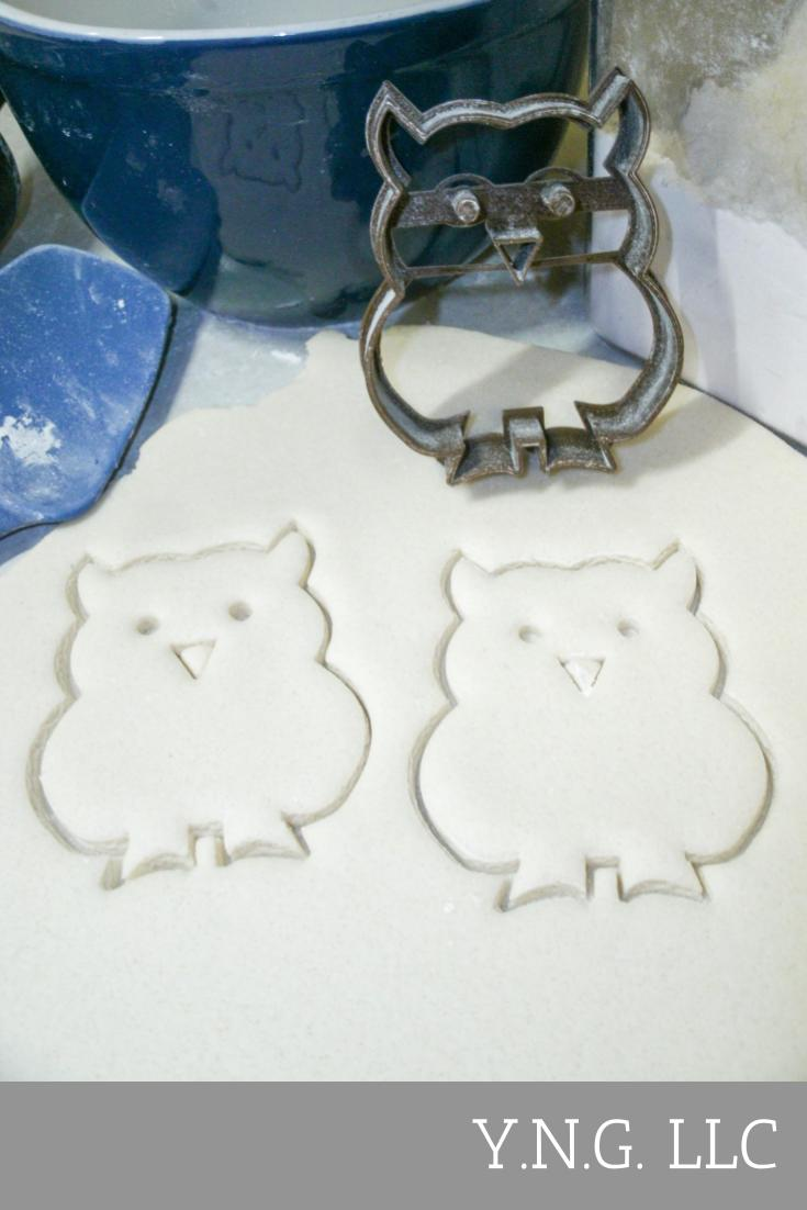 Owl Noctural Night Bird Symbol Wisdom Special Occasion Cookie Cutter Baking Tool Made In USA PR287