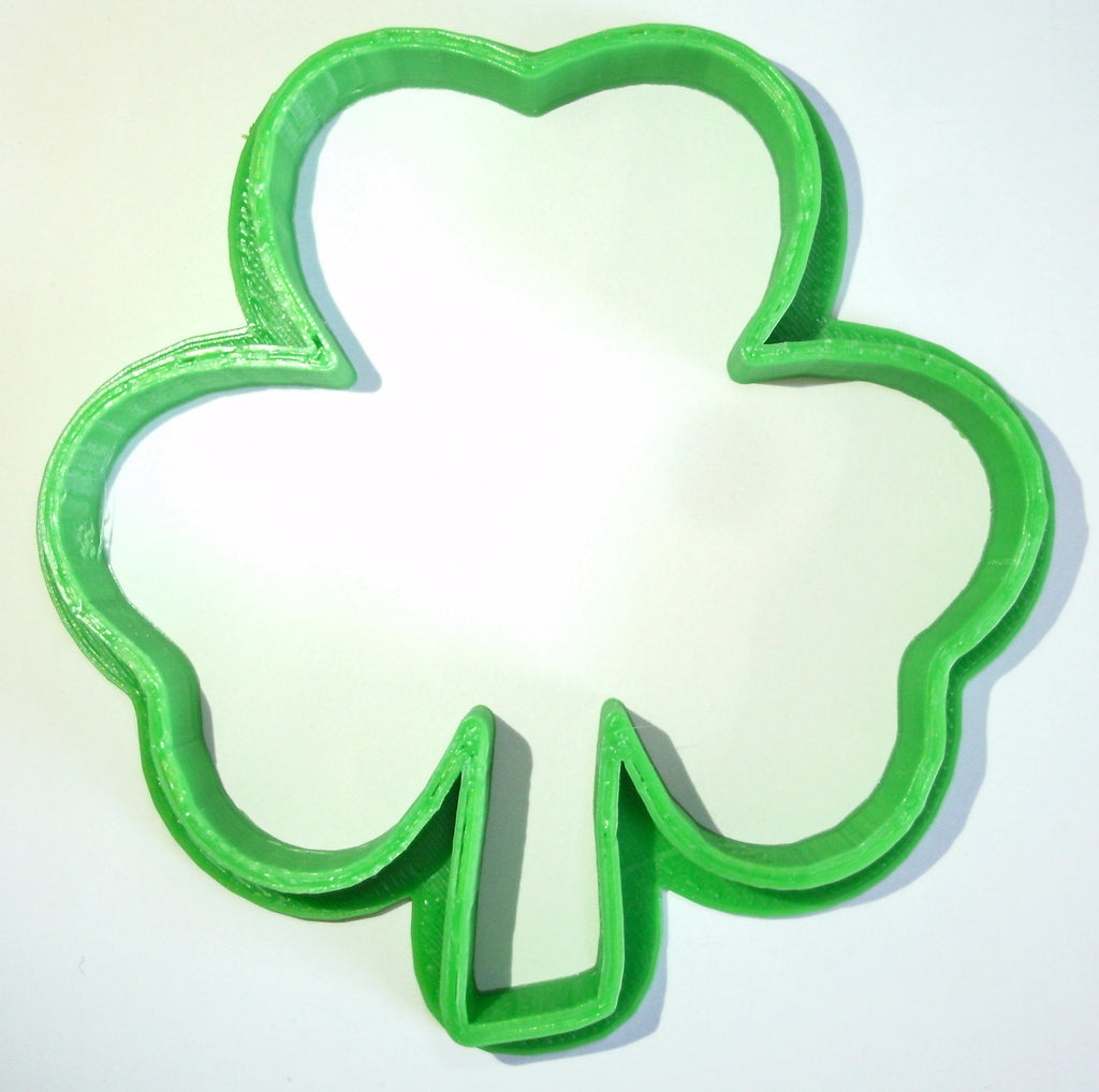 "Shamrock Special Occasion Fondant Stamp Cutter or Cupcake Topper Size 1.75"" Made in USA FD197"