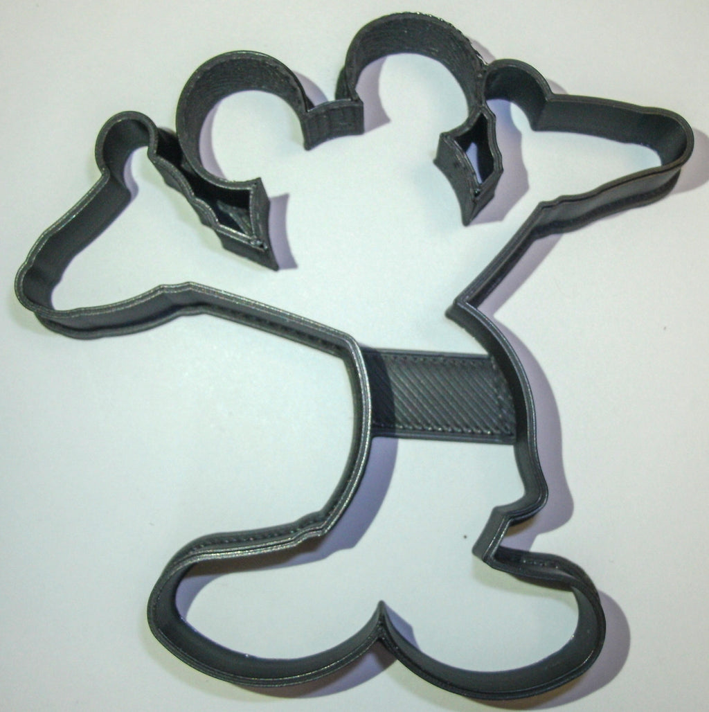 Mickey Mouse Hands Up In The Air Cartoon Disney Character Special Occasion Cookie Cutter Baking Tool Made in USA PR512